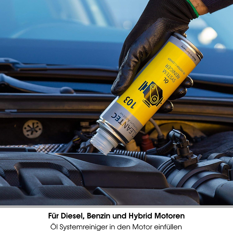 Cleantec 103 Motorspühlung Motorreinigungs Additiv Ölschlammspülung Beim Ölwechsel Engine Flush 300ml Auto