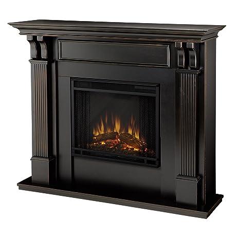 Real Flame 7100E Ashley Electric Fireplace, Medium, Blackwash
