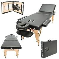 Massage Imperial® Chalfont -Table de massage Portable pro luxe - 3 Zones - Panneaux Reiki - Légère - Couleur : Noir