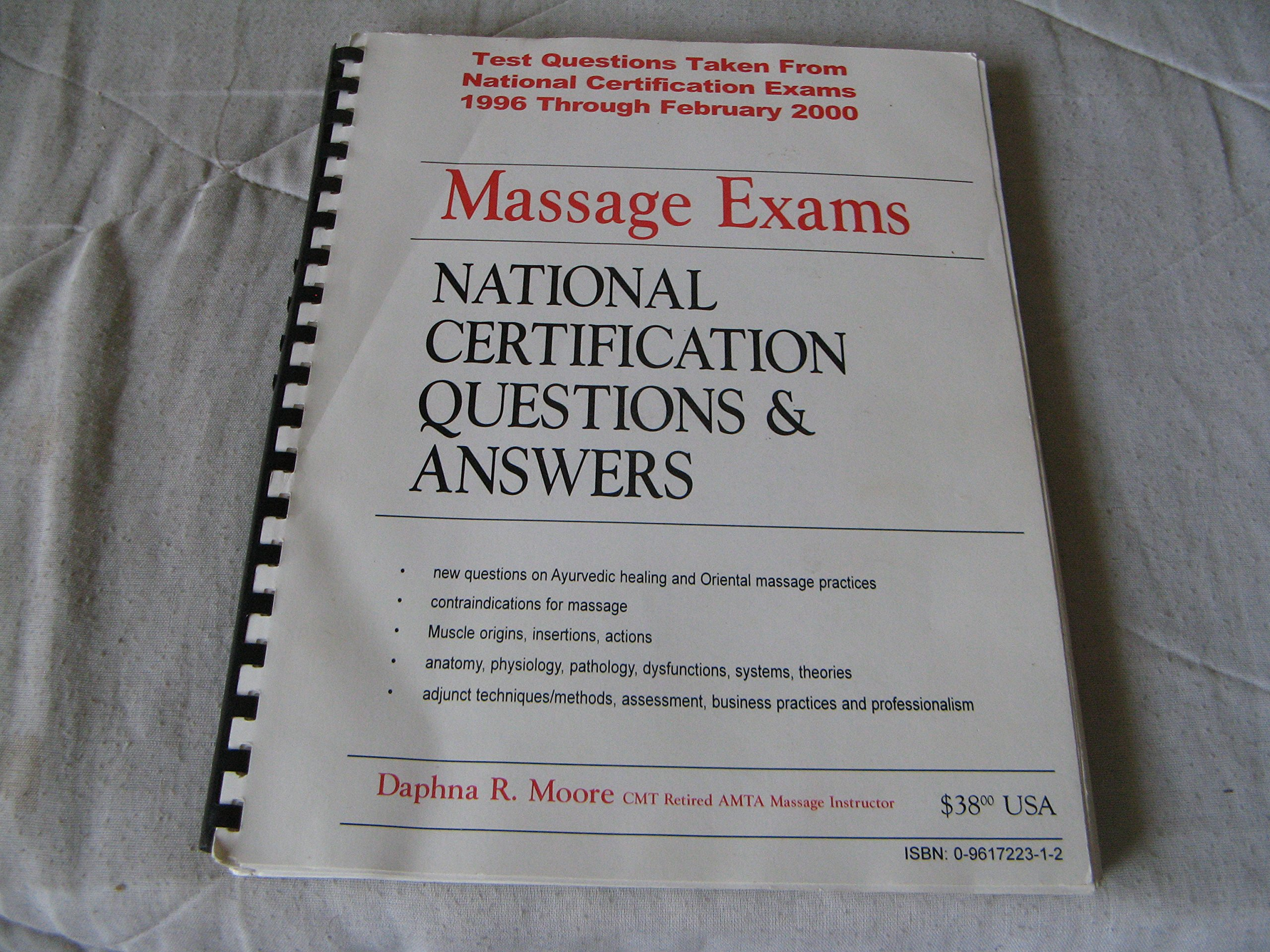 Massage Exams National And Local Certification Textbook One
