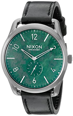 1fb52496ce2 Amazon.com  Nixon Men s A4652069 C45 Leather Analog Display Swiss ...