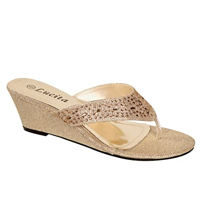 842f7e631 Lucita Women s Wedge Thong Sandals