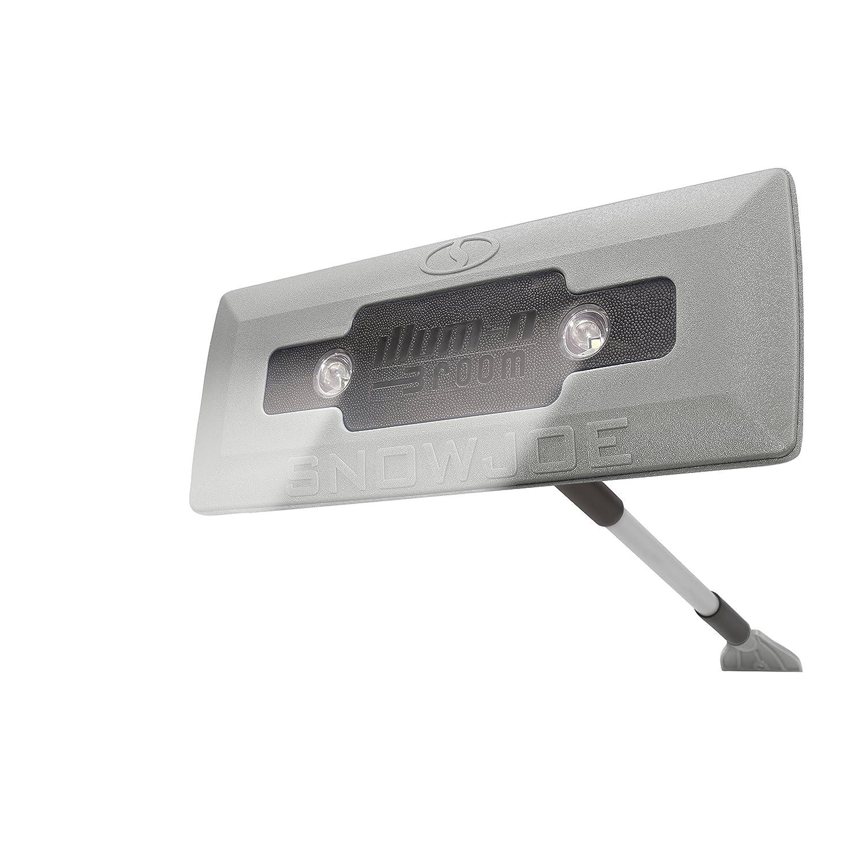 Snow Joe SJBLZD-LED-BLK 4-In-1 Telescoping Snow Broom 18-Inch Foam Head Headlights Ice Scraper Black