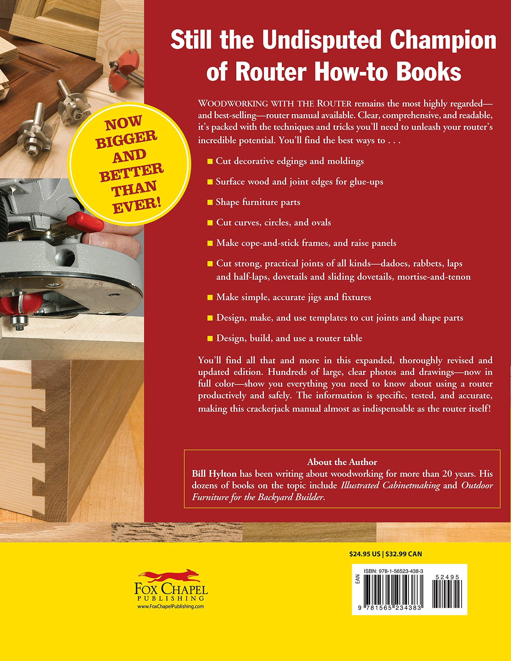 Woodworking With The Router Revised And Updated Professional Router Techniques And Jigs Any Woodworker Can Use Fox Chapel Publishing Comprehensive Beginner Friendly Guide American Woodworker Hylton Bill 9781565234383 Amazon Com Books
