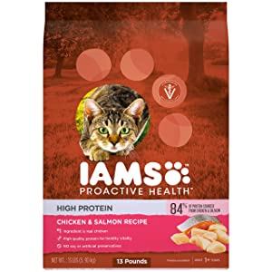 Iams ProActive Health High Protein Chicken & Salmon Recipe Dry Cat Food