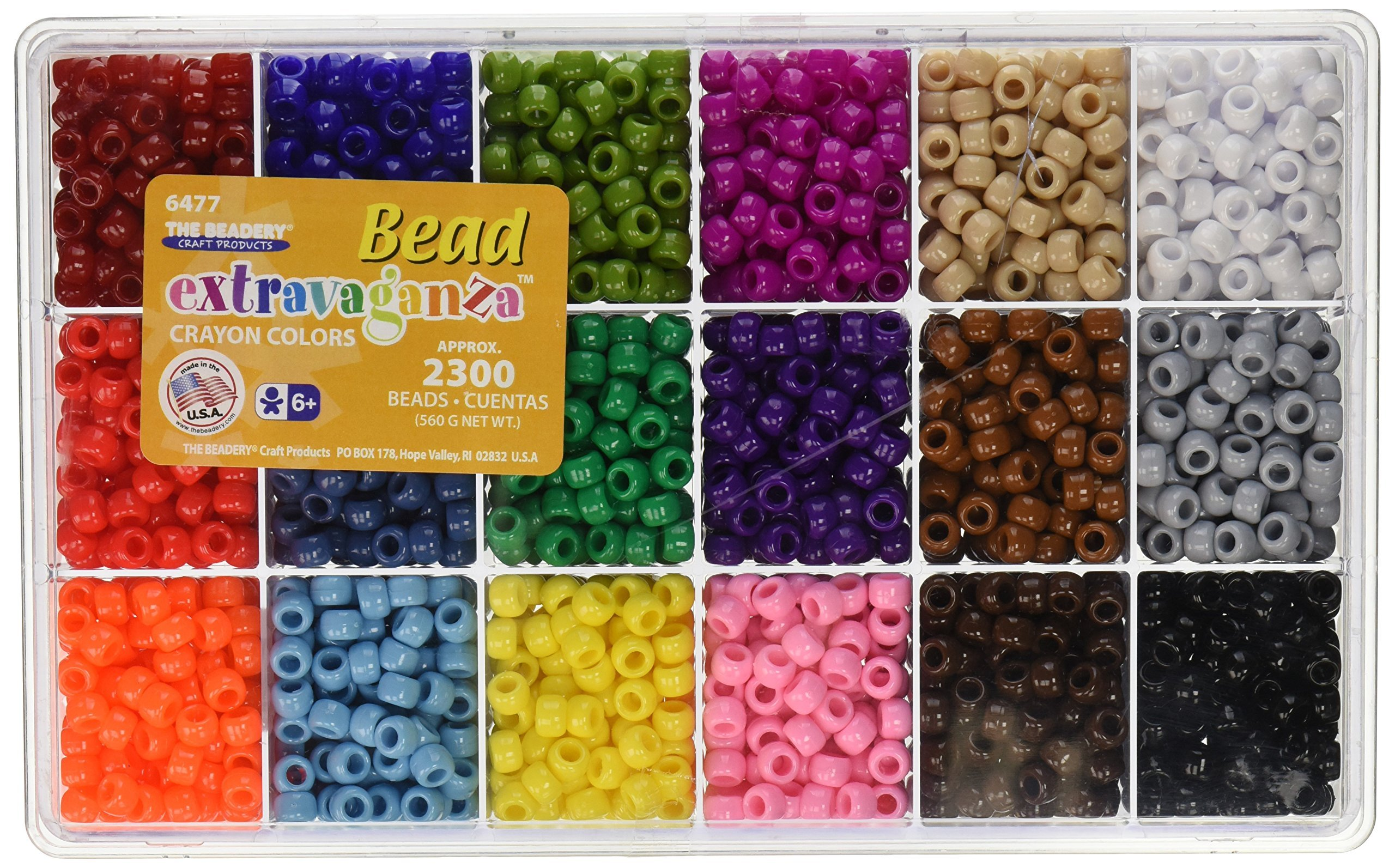 The Beadery Giant Crayon Bead Box - approximately 2300 beads by Beadery