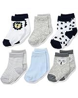 Rene Rofe Baby Baby 6 Pair of Socks on Header Card