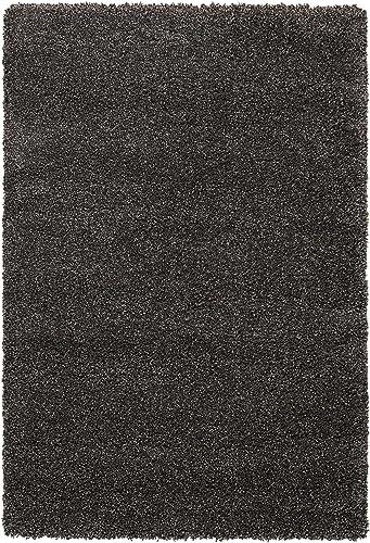 Nourison Amore Shag Area Rug 5'3″ x 7'5″/Dark Grey/Rectangle