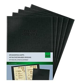 Bürobedarf mappen  Sigel SM131/5 Speisekarten-Mappen mit Buchschrauben-Bindung für A4 ...