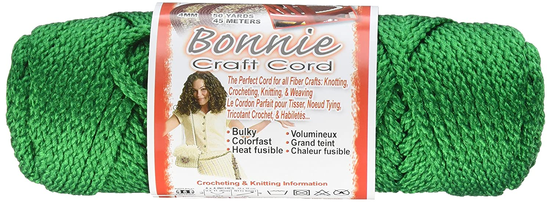 Pepperell 4mm Bonnie Macram/é Craft Cord Forest 50-Yard
