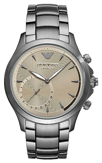 Emporio Armani Reloj Analogico para Hombre de Cuarzo con Correa en Acero Inoxidable ART3017: Amazon.es: Relojes