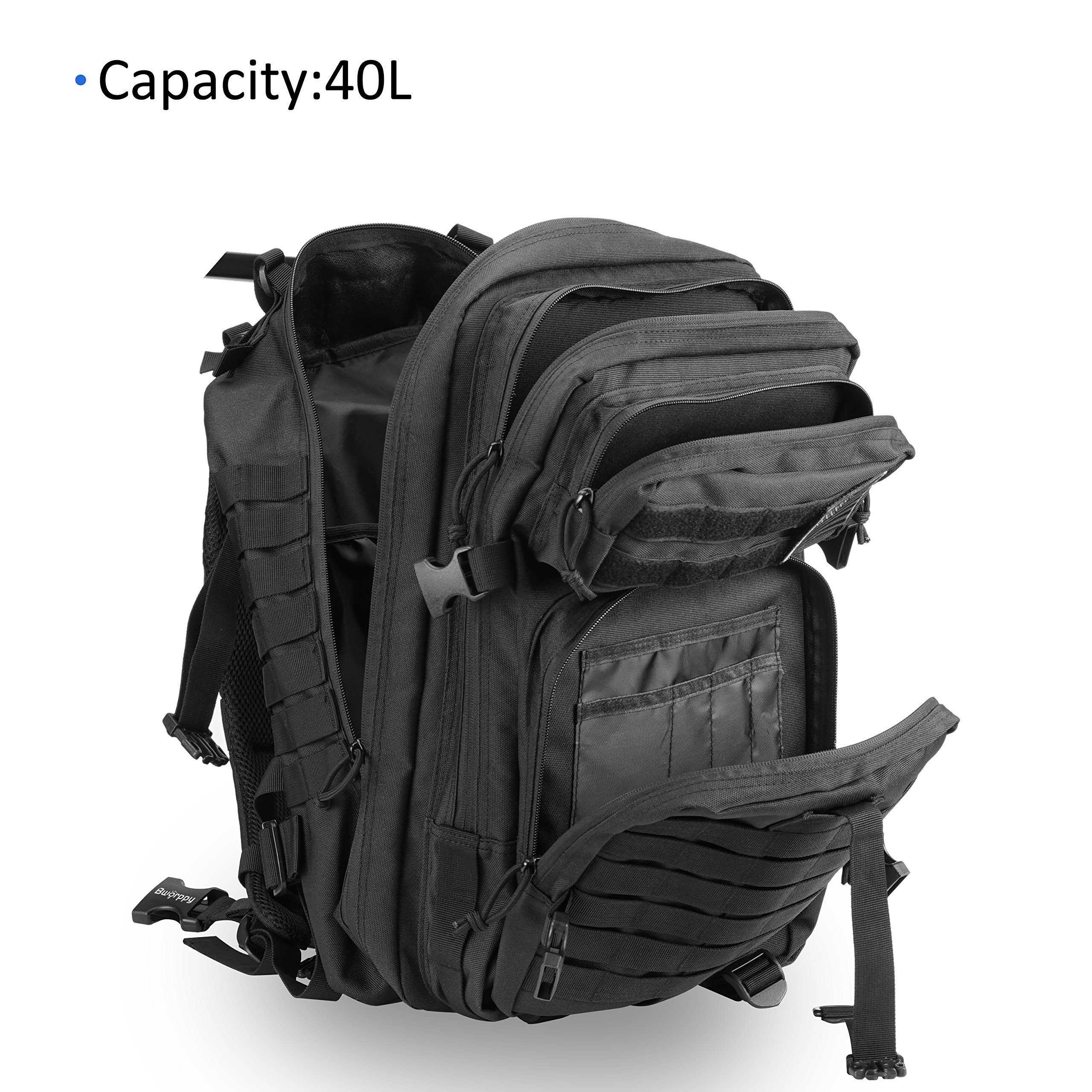 Bworppy Military Tactical Backpack, 40L Outdoor Rucksack, Waterproof 900D Oxford Fabric Assault Pack for Outdoor Hiking Camping Trekking Hunting by Bworppy (Image #5)