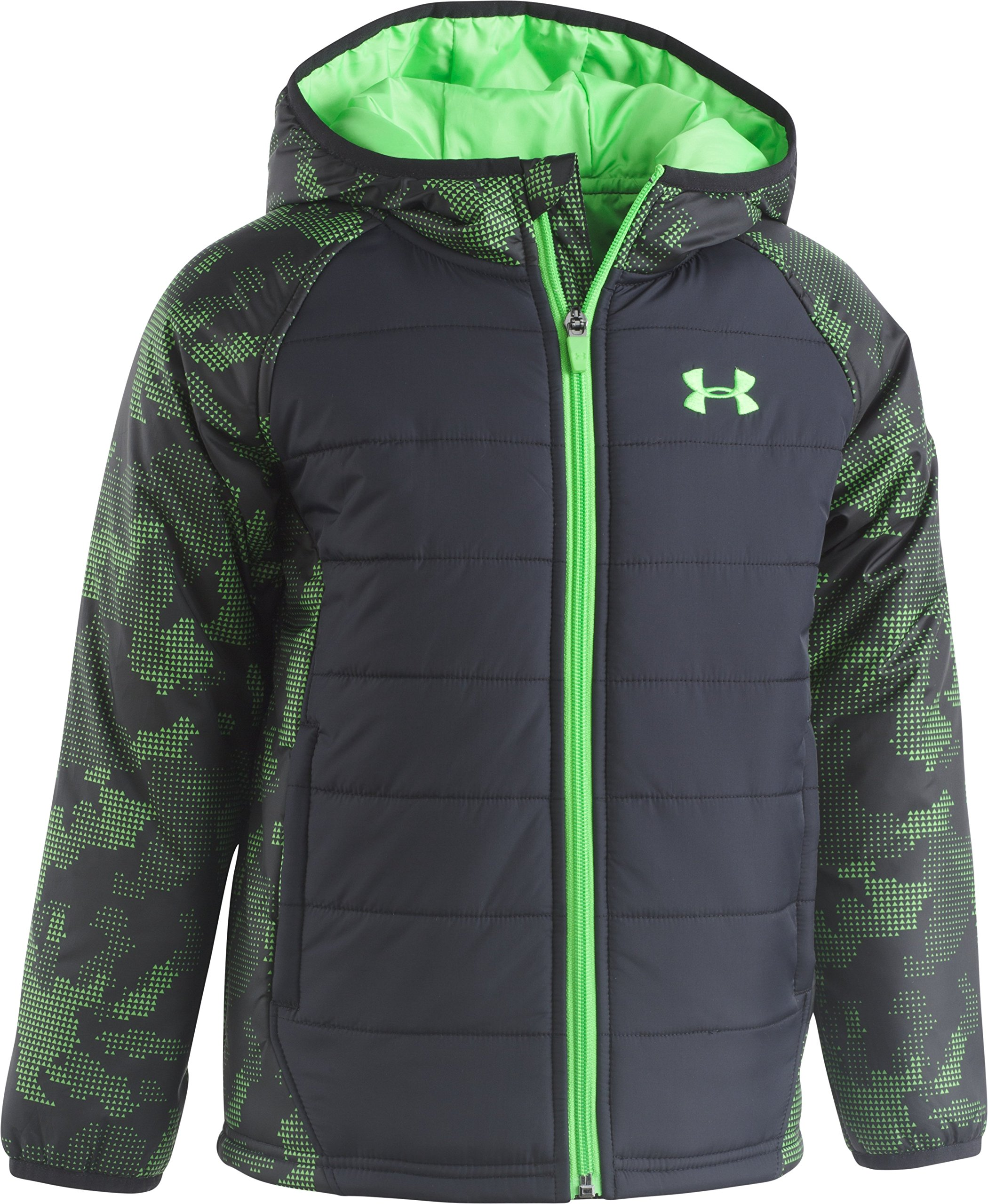 Under Armour Boys' Toddler Utility Werewolf Puffer Jacket, Camo Black, 2T