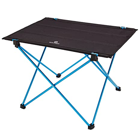 TRIWONDER Folding Camping Table, Ultralight Portable Roll Up Oxford Cloth Collapsible  Picnic Table For