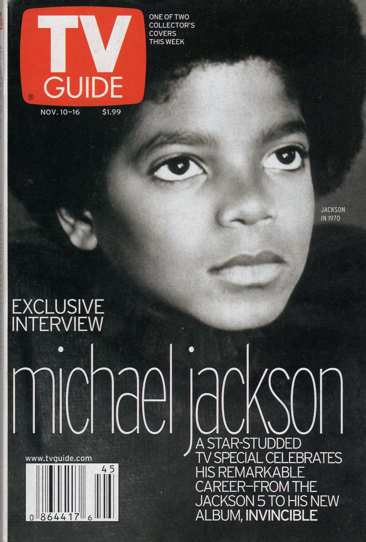 Tv Guide Magazine November 10-16 2001 (EXCLUSIVE INTERVIEW- MICHAEL JACKSON) pdf