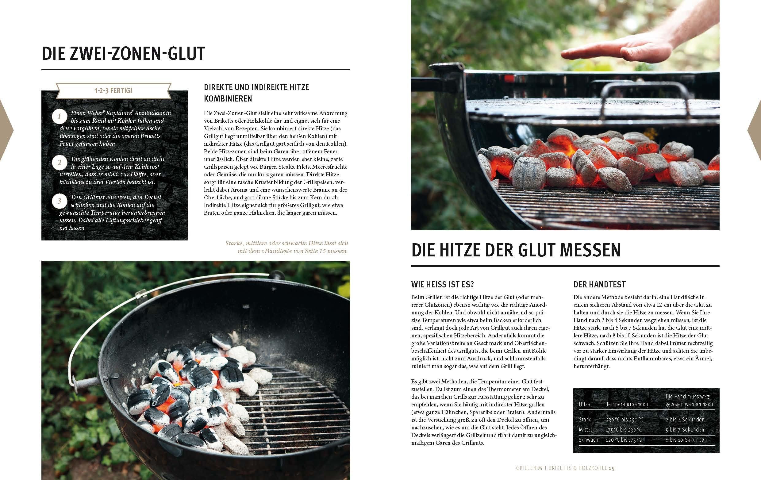 Weber Holzkohlegrill Welche Temperatur : Weber s grillen mit briketts holzkohle gu weber s grillen