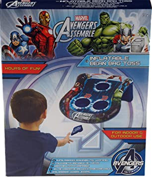 Astonishing Marvel Avengers Inflatable Bean Bag Toss Score Points By Gmtry Best Dining Table And Chair Ideas Images Gmtryco