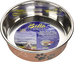 Loving Pets Metallic Bella Bowl, Medium, Copper (7451)