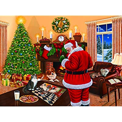 Santa Solves The Puzzle 1000 Piece Jigsaw Puzzle by SunsOut: Toys & Games