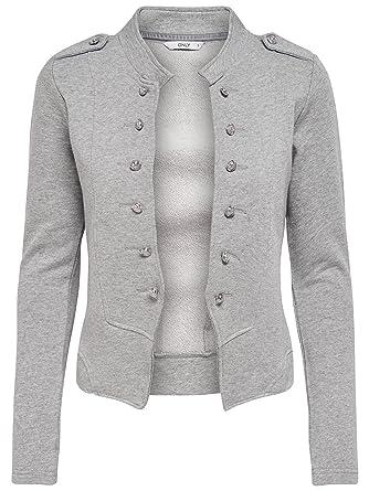 Veste tailleur femme gris clair