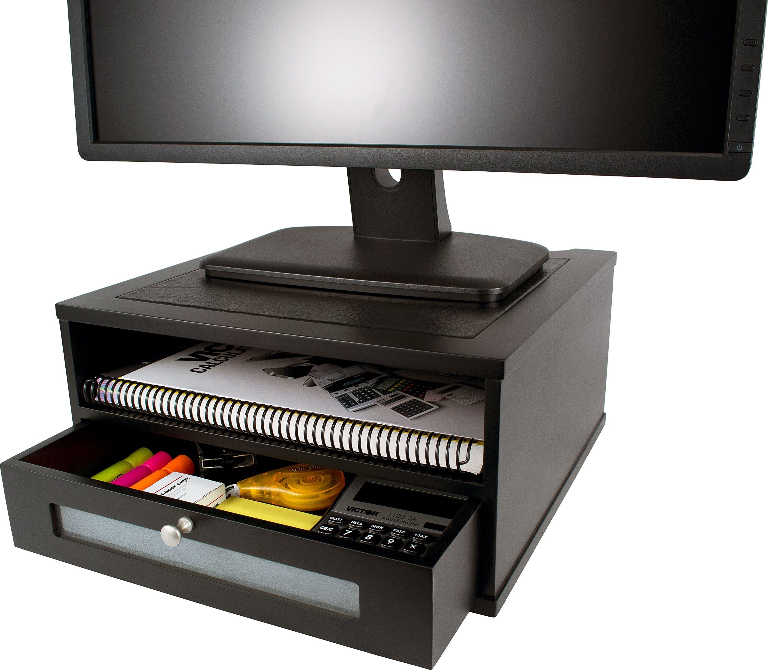 Victor Midnight Black Collection 1175-5 Wood Monitor Stand/Riser by Victor Technology (Image #1)