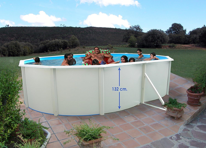 TOI - Piscina desmontable ovalada modelo magnum 132 - 550x366x132: Amazon.es: Jardín