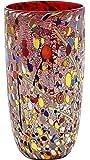 VASO CONICO ARLECCHINO Vase Verre Murano Feuille Or Murrine Fabriqué en Italie Venise