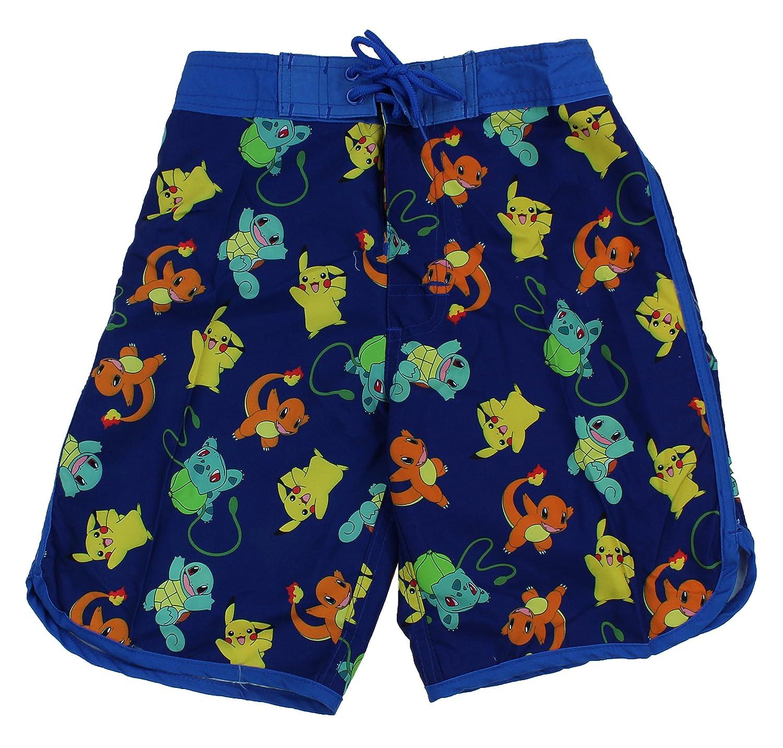 3e801dbc04 Amazon.com: InGear Boys Pokemon Swim Trunk Shorts-Pikachu, Charizard,  Bulbasaur, Charmander (12/14): Clothing