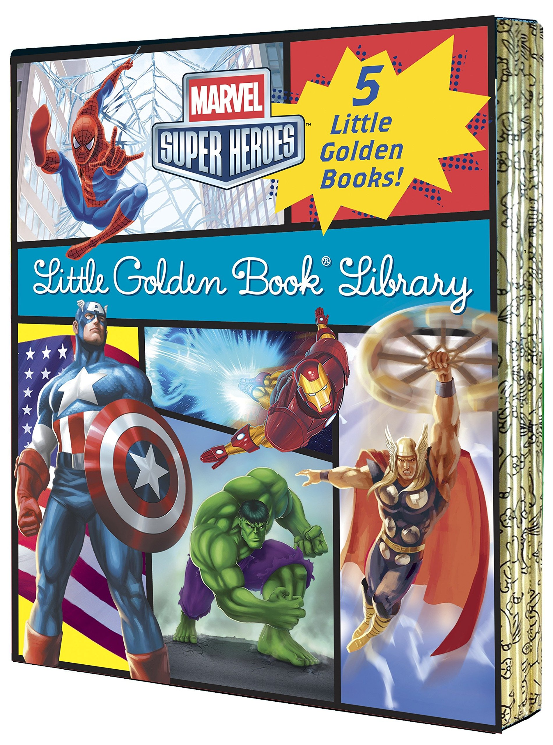 Marvel Little Golden Book Library (Marvel Super Heroes) by GOLDEN (Image #1)