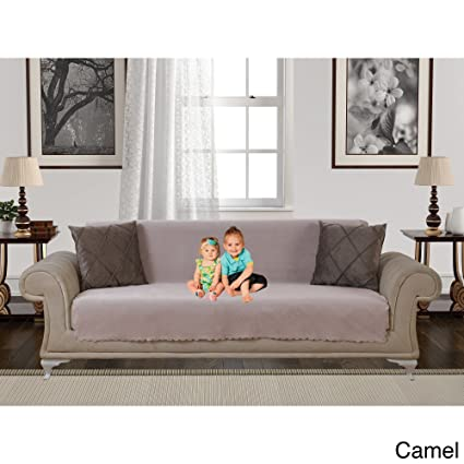 Amazoncom Ph 84 X 68 Inch Camel Solid Color Sofa Slip Cover Light