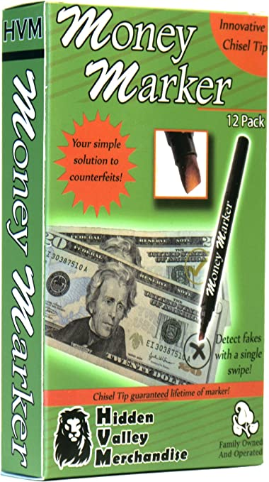 5 Pack Counterfeit Money Detector Tester Pen Marker Fake Dollar Bill Currency