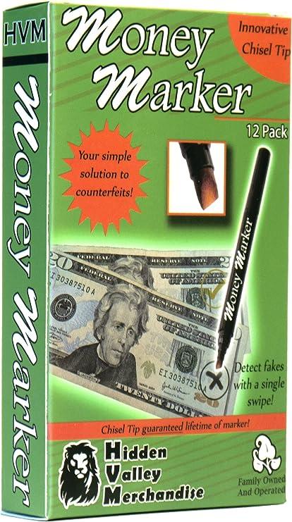 Amazon.com: Marcador de dinero (12 plumas) --- Pluma ...