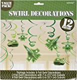 """Adventurous Camouflage Decorative Swirl Value Pack Birthday Party Decorations,3.8"""" x 3.5"""", Pack of 12."""