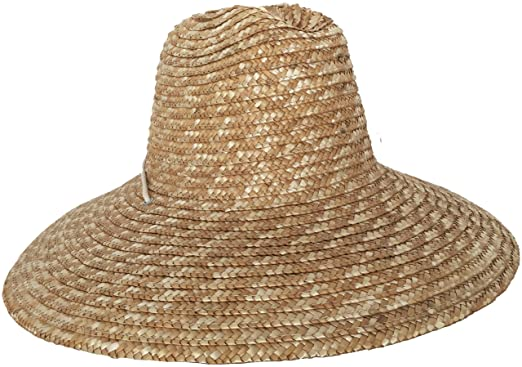 67ad73406be84 Super Wide Brim Lifeguard Hat Straw Beach Sun Summer Surf Safari Gardening  UPF at Amazon Men s Clothing store