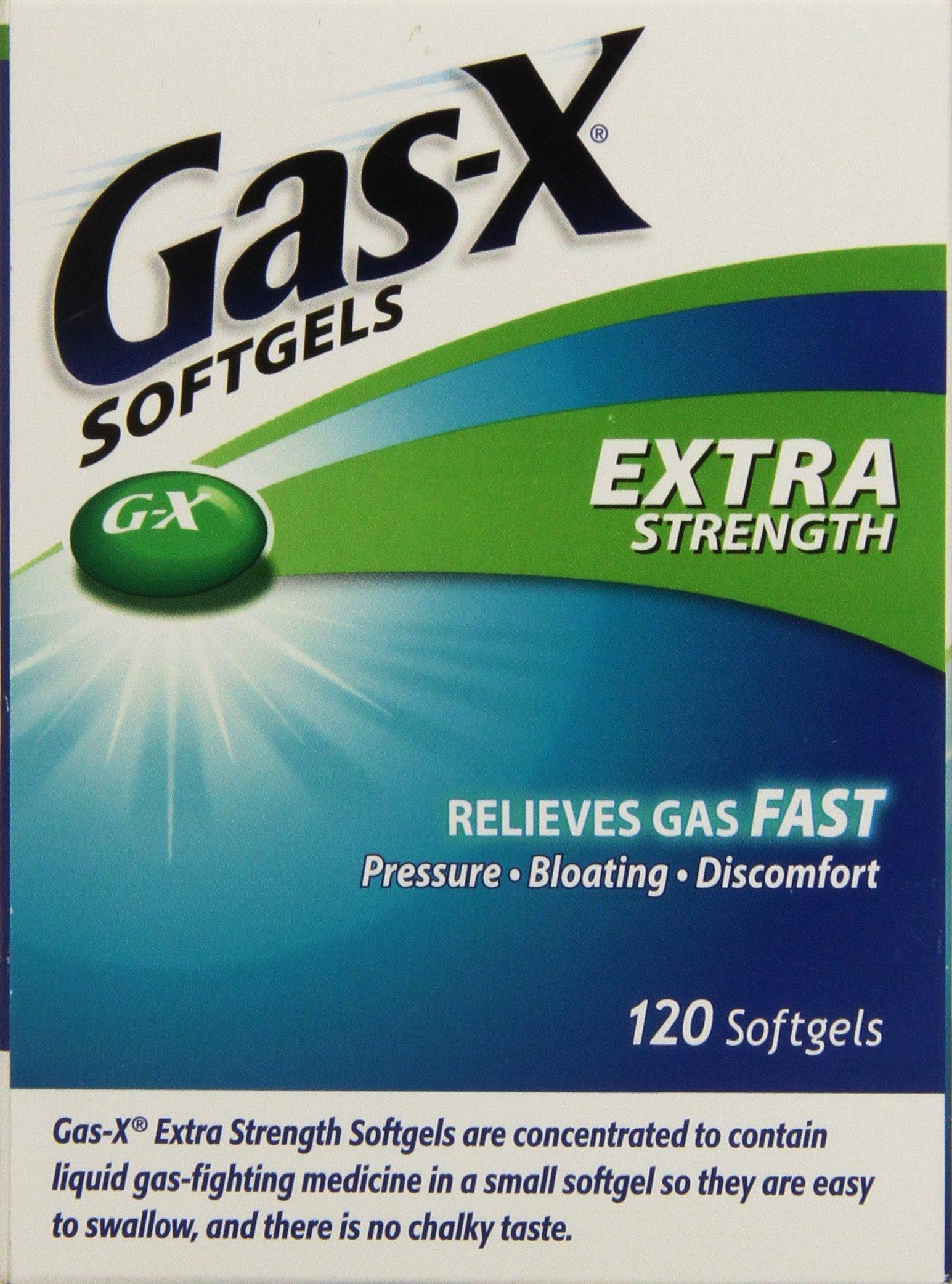 Gas-X Extra Strength Antigas Simethicone, 120 Softgels