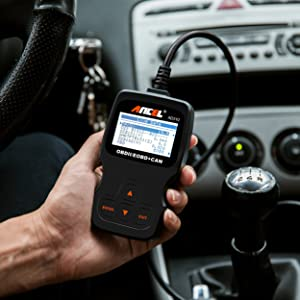 ANCEL AD310 OBD2 Diagnostic Scan Tool supports English, German, French, Spanish, Finnish, Dutch, Russian and Portuguese.