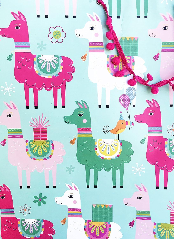Amazon.com: Whimsical Happy llama grandes de la celebración ...