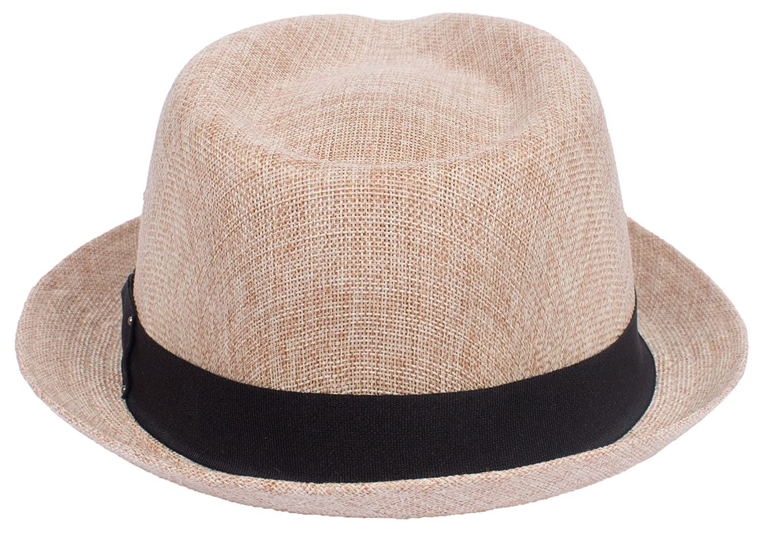 DRY77 Porkpie Pork Pie Fedora Hat Trilby Cuban Cap Linen Cotton Up Short  Brim at Amazon Men s Clothing store  6bd132a3af6