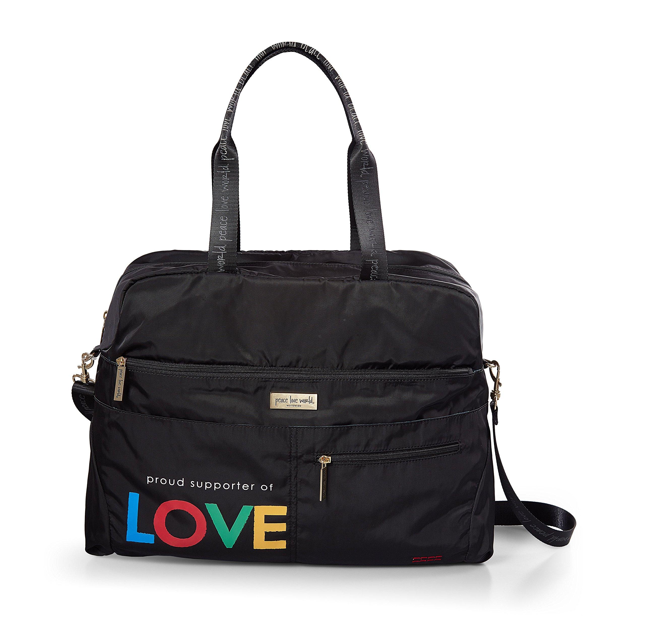 Peace Love World Duffle Bag Crossbody bag PLW200 Black (Black)
