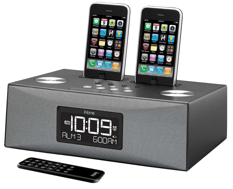 Amazon.com: iHome iP88 Dual Dock Alarm Clock Radio for iPod and ...