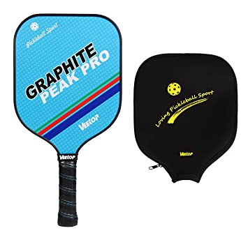 Veetop Ultralight Graphite Pickleball Paddle Racket Racquet Nomex Honeycomb Core with Protective Cover Bag