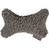 Best Friends by Sheri Sherpa Dog Toy Bone / Pillow, Gray (TOY-SHE-GRY-MED)