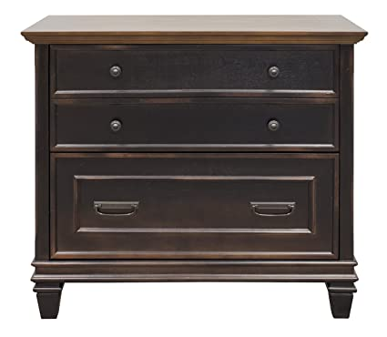 Martin Furniture Hartford Lateral File Cabinet, Brown   Fully Assembled