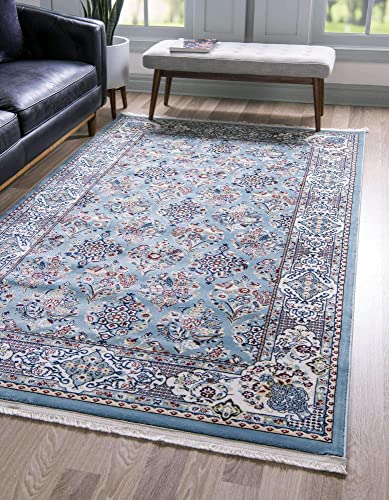 Unique Loom Narenj Collection Classic Traditional Repeating Pattern Blue Area Rug 13 0 x 19 8