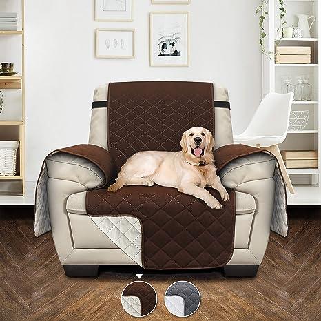 Utopia Bedding Funda Reversible Antideslizante Sofá - Resistente a la Suciedad - Protección de Muebles para Mascotas y niños [Adecuado para un sofá de ...