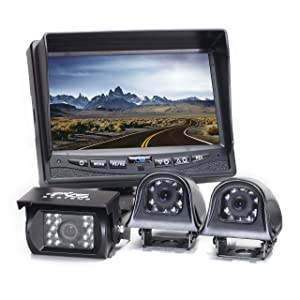 Rear View Safety Backup Camera System with Side Cameras for RV's, Trucks, Buses and Commercial Vehicles | RVS-770616N