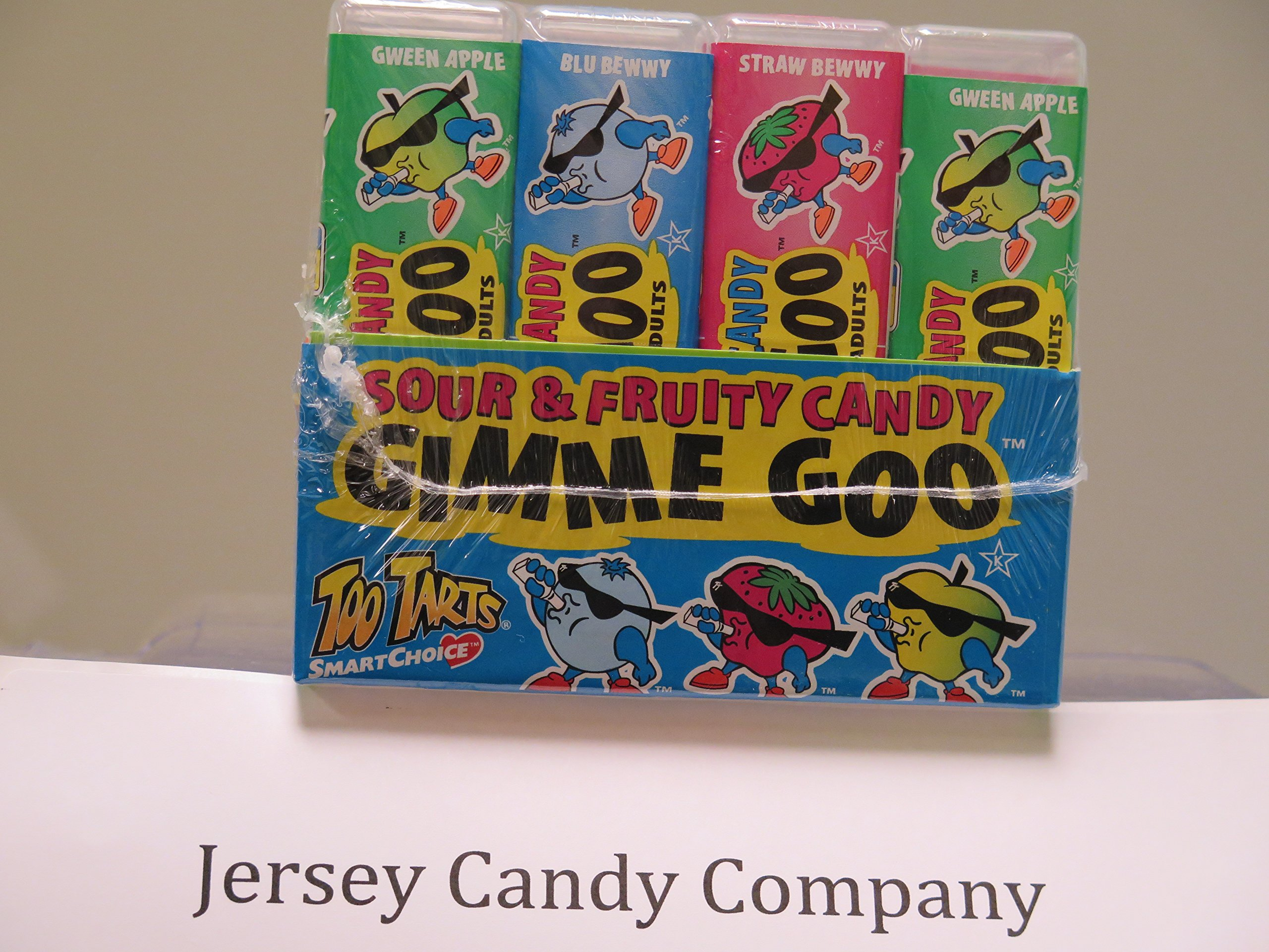 Gimme Goo Sour $ Fruity Candy 12 Count (Sugar Free) From Jersey Candy Company