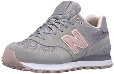 New Balance Women s WL574 Nouveau Lace Pack Running Shoe, Steel Charm, ... 3baa019616f6