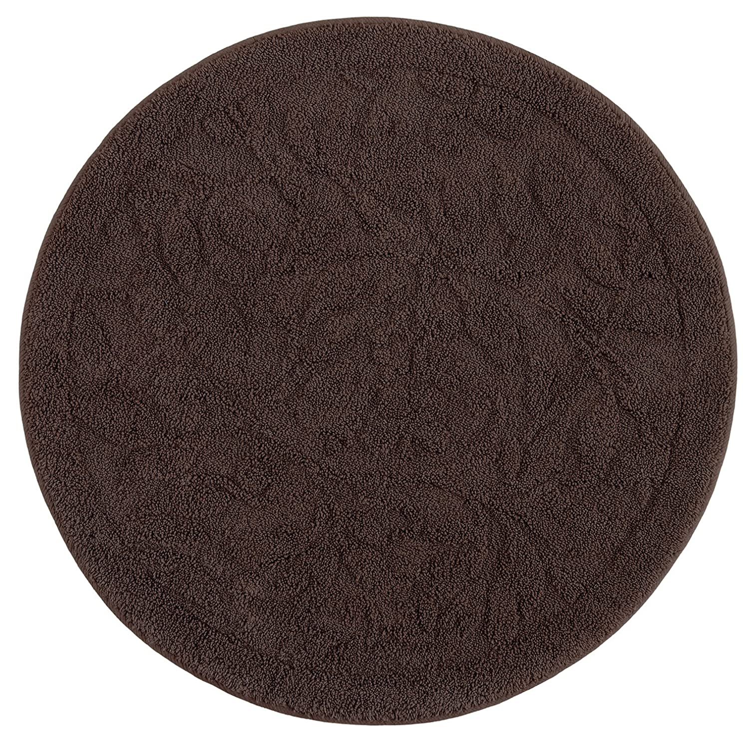Chocolate 3'x3' Mohawk Home Foliage Cabernet Accent Rug, 3'x5'