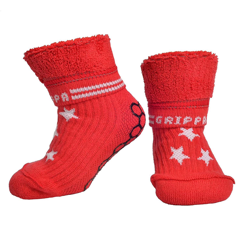 """GRIPPA"""" calcetines antideslizantes para niños con estrellas de diseño. Hechos en Gran Bretaña y aprobado por los principales expertos en la salud del pie del Reino Unido"""